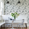 Picture of Ada Black Floral Wallpaper