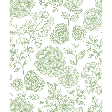 Picture of Ada Green Floral Wallpaper
