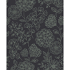 Picture of Ada Charcoal Floral Wallpaper
