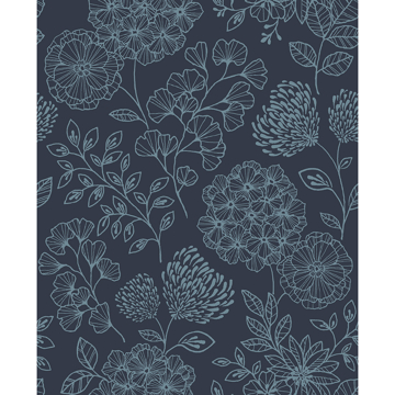Picture of Ada Indigo Floral Wallpaper