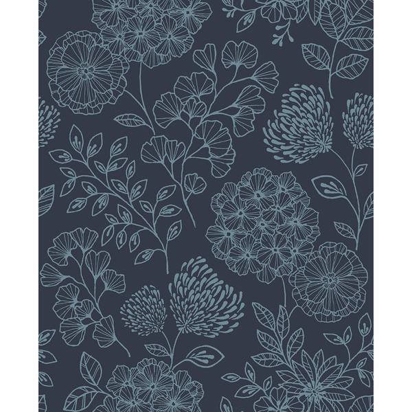 Picture of Ada Indigo Floral Wallpaper