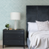 Picture of Cade Teal Geometric Wallpaper