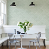 Picture of Cade Green Geometric Wallpaper