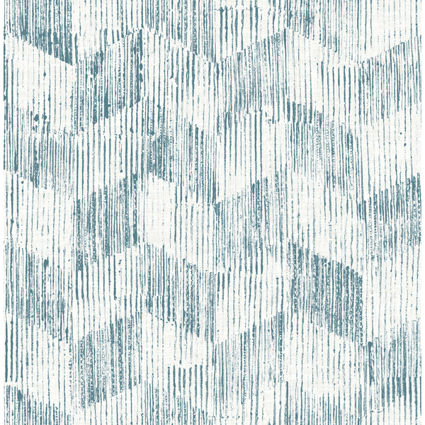 Picture of Demi Teal Distressed Wallpaper