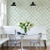 Picture of Demi Green Distressed Wallpaper