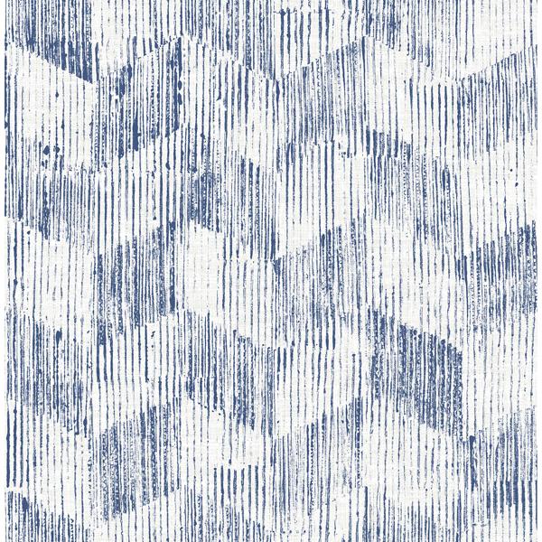 Picture of Demi Indigo Distressed Wallpaper