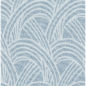 Picture of Farrah Blue Geometric Wallpaper