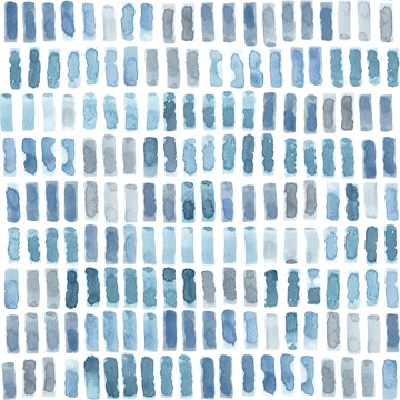 Picture of Brynne Indigo Watercolor Wallpaper