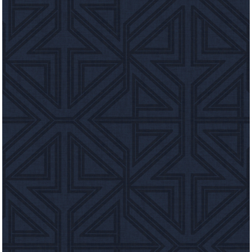 Picture of Kachel Indigo Geometric Wallpaper