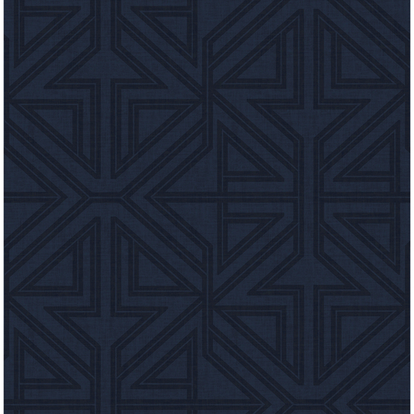 Picture of Kachel Indigo Geometric Wallpaper