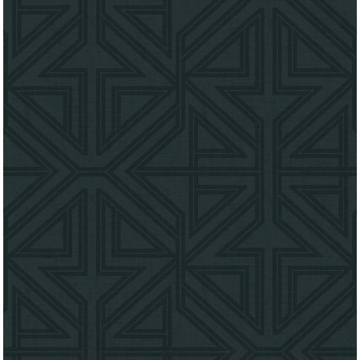 Picture of Kachel Teal Geometric Wallpaper
