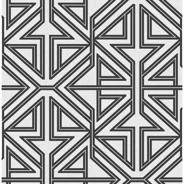 Picture of Kachel Black Geometric Wallpaper