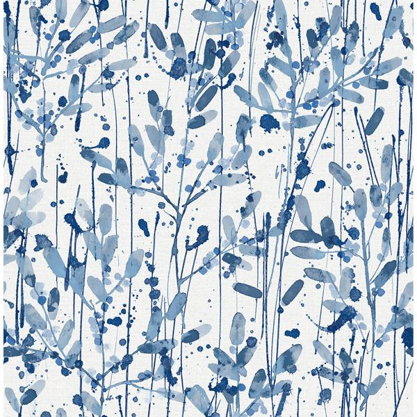 Picture of Leandra Indigo Floral Trail Wallpaper
