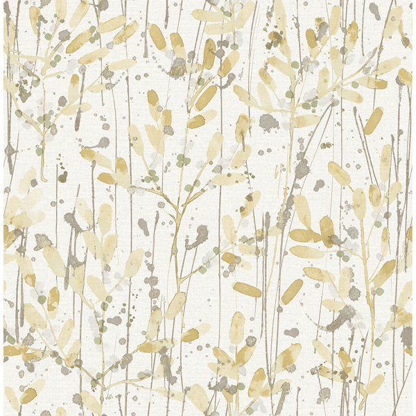 Picture of Leandra Yellow Floral Trail Wallpaper