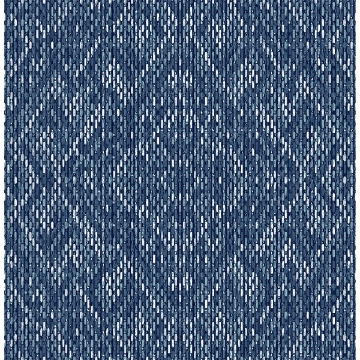 Picture of Felix Indigo Geometric Wallpaper