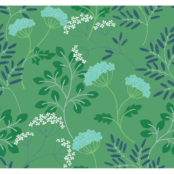 Picture of Sorrel Green Botanical Wallpaper