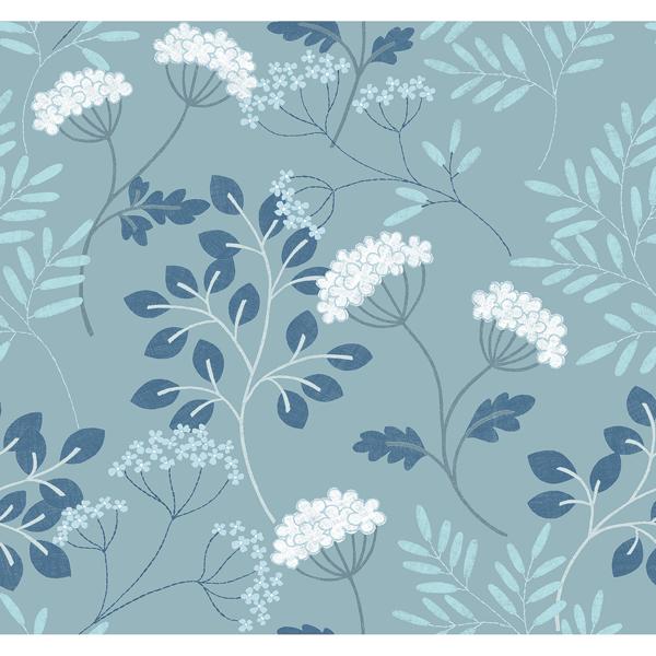 Picture of Sorrel Slate Botanical Wallpaper