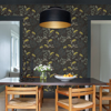 Picture of Sorrel Black Botanical Wallpaper
