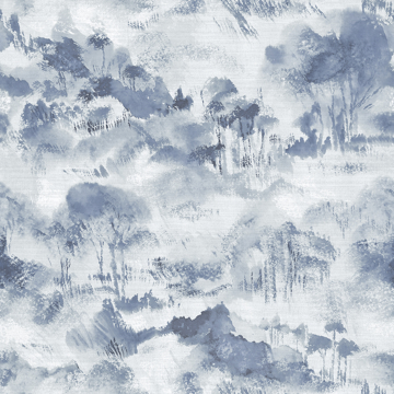 Picture of Nara indigo Toile Wallpaper