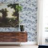 Picture of Nara indigo Toile Wallpaper