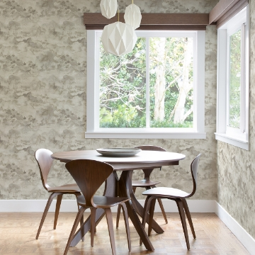 Picture of Nara Taupe Toile Wallpaper