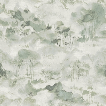 Picture of Nara Sage Toile Wallpaper