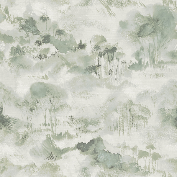 Picture of Nara Sage Toile Wallpaper
