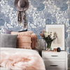 Picture of Navy Secret Garden Peel and Stick Wallpaper