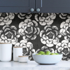 Picture of Charcoal Ronette Peel and Stick Wallpaper