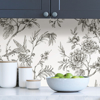 Picture of Charcoal Longwood Peel and Stick Wallpaper