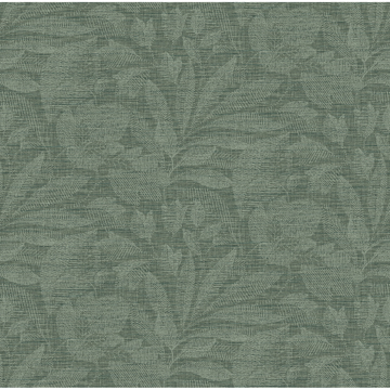 Picture of Lei Green Etched Leaves Wallpaper