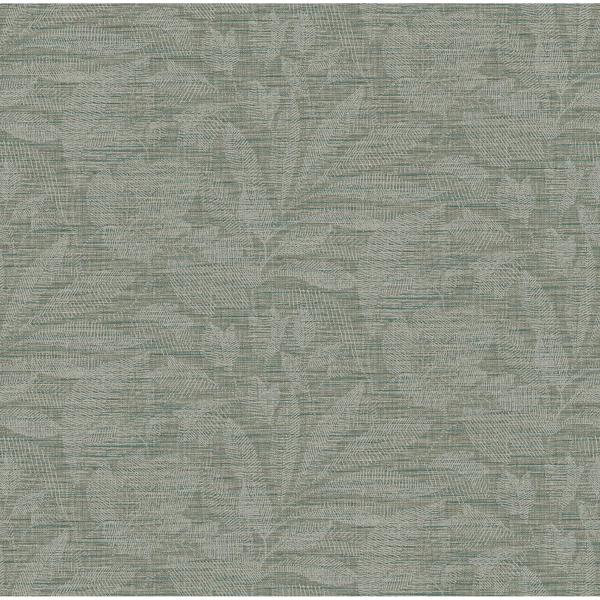 Picture of Lei Jade Etched Leaves Wallpaper