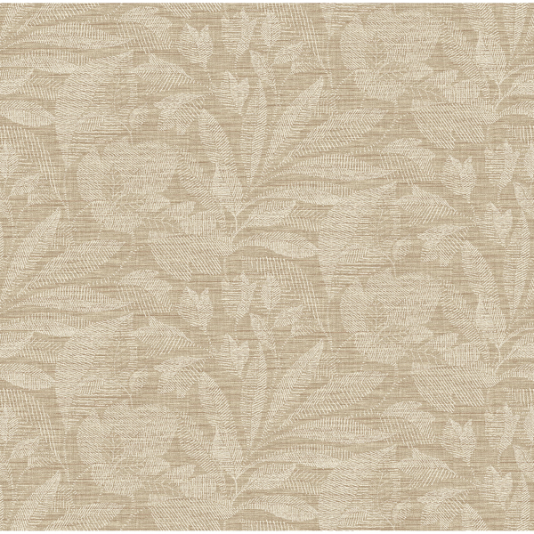 Picture of Lei Wheat Etched Leaves Wallpaper