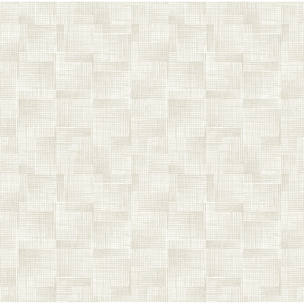 Picture of Ting Cream Abstract Woven Wallpaper