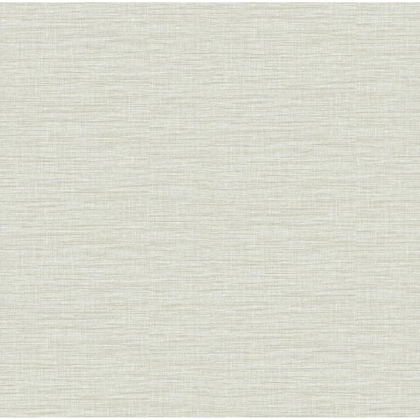 Picture of Lela Silver Faux Linen Wallpaper