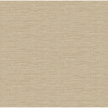 Picture of Lela Wheat Faux Linen Wallpaper