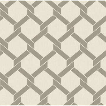 Picture of Payton Grey Hexagon Trellis Wallpaper