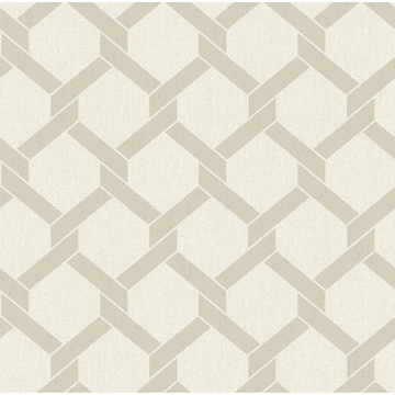 Picture of Payton Beige Hexagon Trellis Wallpaper