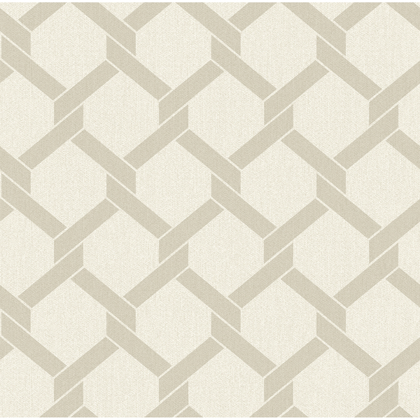 Picture of Payton Beige Hexagon Trellis Wallpaper