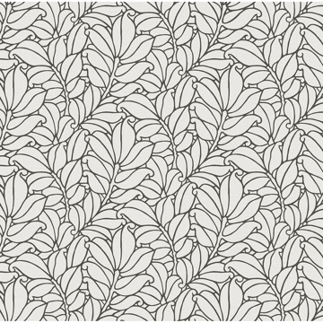 Picture of Coraline White Leaf Wallpaper