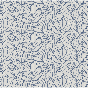 Picture of Coraline Blue Leaf Wallpaper