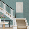 Picture of Justina Teal Faux Grasscloth Wallpaper