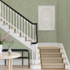 Picture of Justina Green Faux Grasscloth Wallpaper