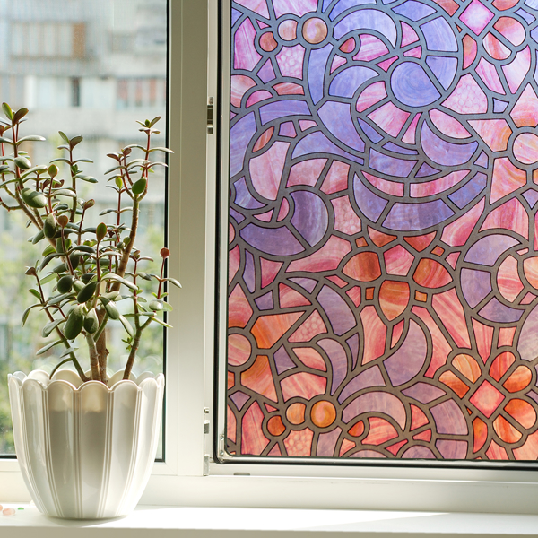 Picture of Reims Blue Pink Self Adhesive Window Film