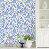 Picture of Blue Danson Peel and Stick Wallpaper