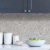 Picture of Charcoal Saraya Peel and Stick Wallpaper