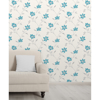 Picture of Isobelle Teal Floral Wallpaper