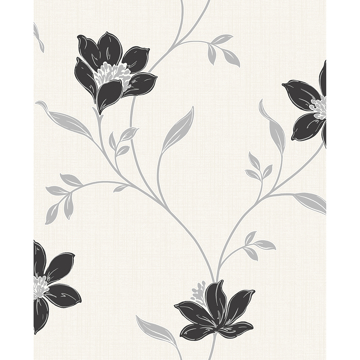 Picture of Isobelle Black Floral Wallpaper