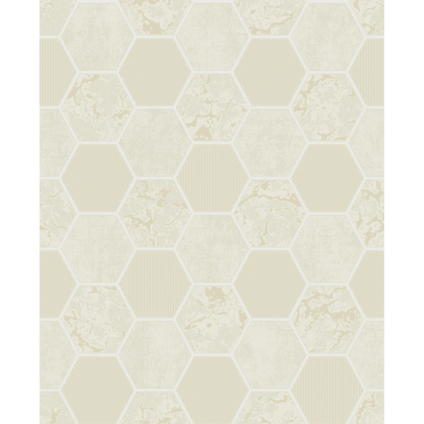 Picture of Ceramica Cream Hexagon Tile Wallpaper