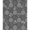 Picture of Ceramica Black Hexagon Tile Wallpaper